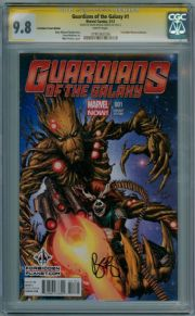 Guardians Of The Galaxy #1 Forbidden Planet Variant CGC 9.8 Signature Series Signed Brian Michael Bendis Marvel comic book